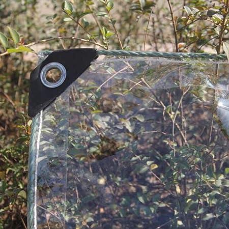 SHIJINHAO Lonas Impermeables Exterior ,Vaso Cubierta De Lluvia Aislamiento Jardín Toldo Agujero De Metal PVC Resistente 14 Tamaños (Color : Clear, Size : 1.8 x2 m): Amazon.es: Hogar