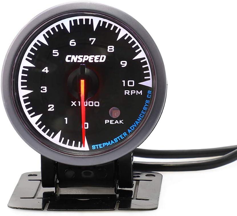 Forbestest Modifizierte Automobil-Auto-Instrument 12V 2.5 Zoll 7 Farbe der Hintergrundbeleuchtung Tachometer-Lehre Auto-Messinstrument