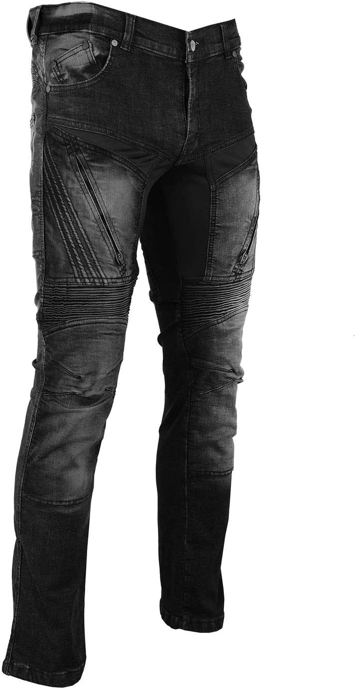 BULLDT Herren Motorradjeans Motorradhose Denim Jeans Hose mit Protektoren L32 Farbe:Blau Jeansgr/ö/ße:W32