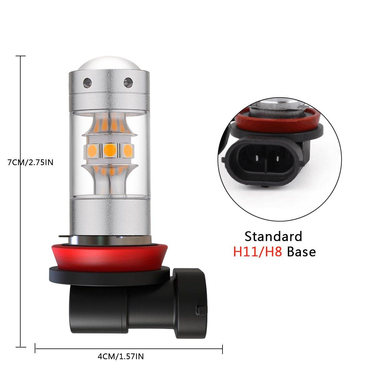 H10 BOGAO Haute Puissance 3000 Lumens 3030 SMD Super Extr/êmement Lumineux 6000 K Blanc H10 9145 9045 9140 9040 Ampoules LED pour Remplacement des Feux de Lumi/ère