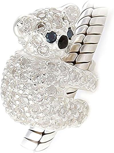 Crystal Koala Bear 925 Sterling Silver Charm Fits Pandora, Biagi ...