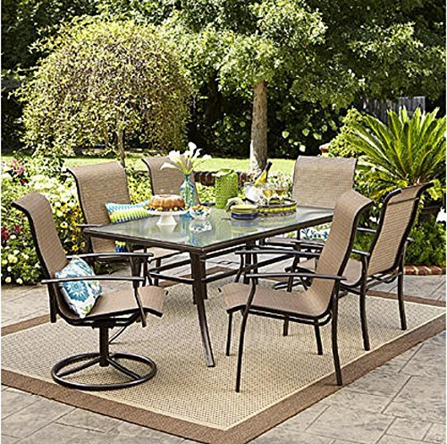 Hampton bay 7 piece dining set perfect for outdoor for Outdoor seating set sale