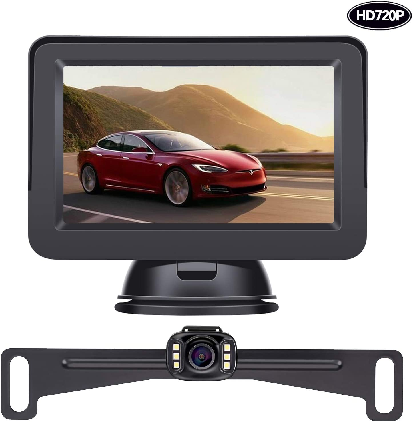 LeeKooLuu HD 720P Backup Camera and Monitor Kit OEM