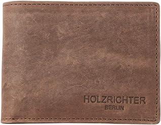 b797d5a605723 HOLZRICHTER Berlin Herren Geldbörse aus Leder (L) - Handgefertigtes Herren  Portemonnaie - Dunkelbraun