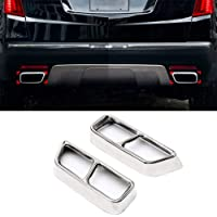 Exhaust Pipe Cover, Polishing Car Tail Throat, Stainless Steel Muffler Tip Exhaust Trims, Tail Frame Cover Trim For…