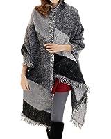 FENTI Moda nappe morbido donne sciarpa Pashmina avvolgere scialle Scarf wrap Shawl grigio