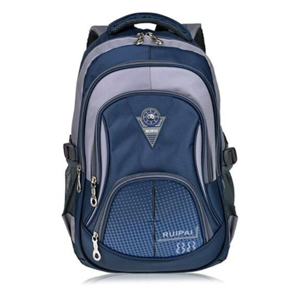 FHスポーツバッグHighスクールバックパックスクールバックパックガールズMiddle Schoolキュートバッグアウトドアバックパック 12X28X43cm ブルー FH B07FJLZF88 ブルー 12X28X43cm