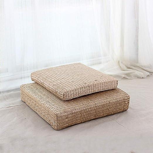 Kevin Bin Paja futón cojín Tejido a Mano Cojines Buda-cojín ...