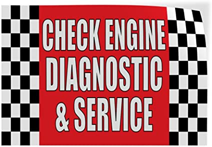 Decal Sticker Multiple Sizes Fuel Economy Service Automotive Check Air Filter Outdoor Store Sign Red Set of 2 58inx38in