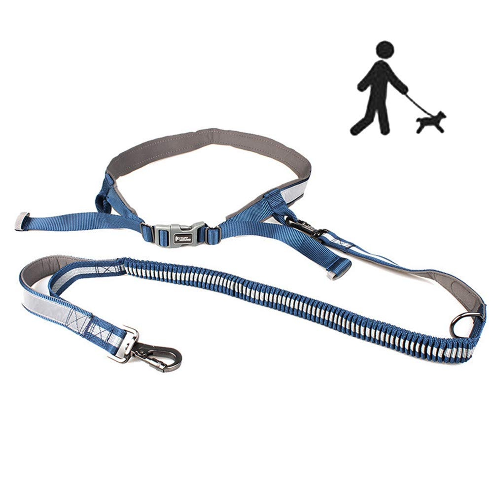ZNN Dog Leash - Hands-Free Pet Outdoor Running Dog Leash, Explosion-Proof Elastic Nylon Design, Safety Reflective Design, Durable, Suitable for Pet Outdoor Running