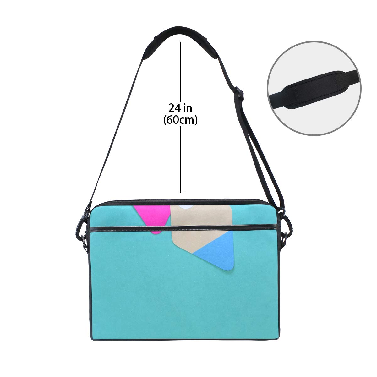 Suitable for 15 Inch Computers Briefcases Handbags Shoulder Bags Art of Color Mens and Womens Computer Bags