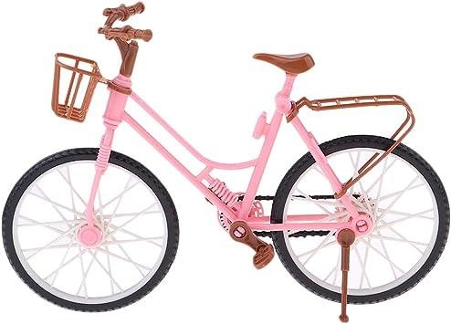 Amazon.es: P PRETTYIA Miniatura Bicicleta Escala 1/6 Accesorios ...