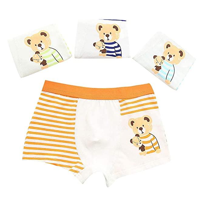 23a45a57714bad H.eternal Baby Girls' Reusable Potty Training Pants Pack of 4 Elastic Waist  brifes Cotton Boxer Nappy Cover Knickers Underpants Cartoon Bear Print  Short ...