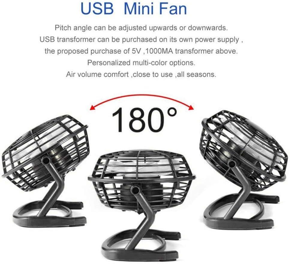 Sundoco USB Mini Fan 5V Small Desk USB 4 Blades Cooler Cooling Fan Blue