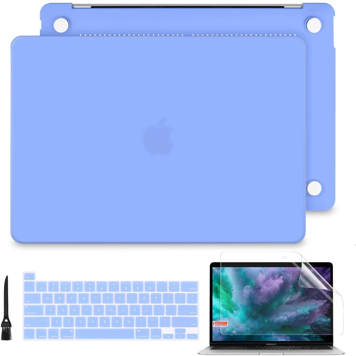 Batianda for MacBook Pro 13 2020 Rlease A2251 A2289 Model Plastice Hard Shell Cover with Keyboard Cover Skin and Screen Protector, Solid Blue