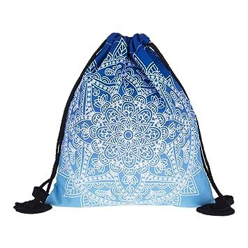 LAAT Mochila Bolsas de Cuerdas, Bolsa Plegable Mochila Impermeable, Poliéster Mochilas Cuerdas Cordón Ajustable,30 * 39 cm: Amazon.es: Hogar