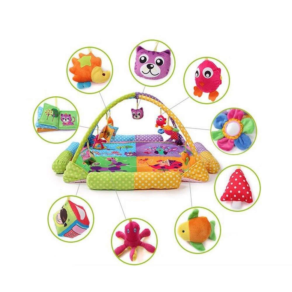 Palymatsフロアジム赤ちゃんクロール毛布スーパーソフトアクティビティフィットネススタンド、明るい色遊び   B07T18FQBH