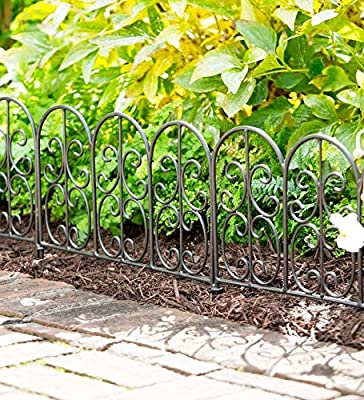 Wrought Iron Edging Panels In Montebello Design