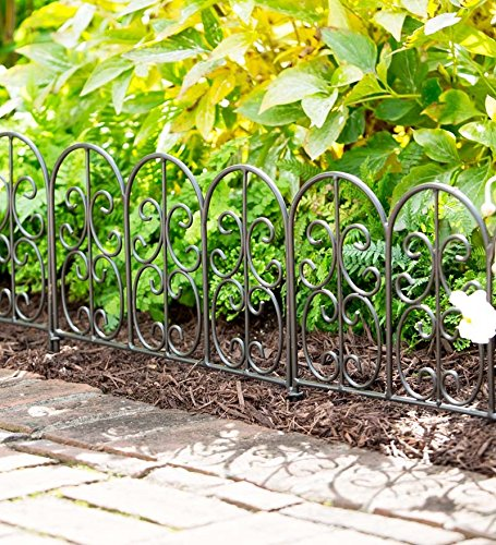 Iron Garden Border - Wrought Iron Edging Panels In Montebello Design