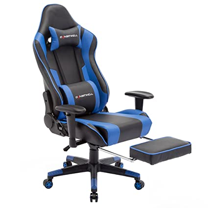 Ordinaire DANSITWELL Gaming Chair With Footrest, Ergonomic Adjustable Racing Chair  High Back Computer Chair With Headrest