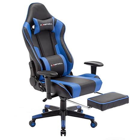Tremendous Dansitwell Gaming Chairs For Adults Ergonomic Adjustable Racing Chair With Footrest High Back Computer Chair With Headrest And Lumbar Support Blue Squirreltailoven Fun Painted Chair Ideas Images Squirreltailovenorg