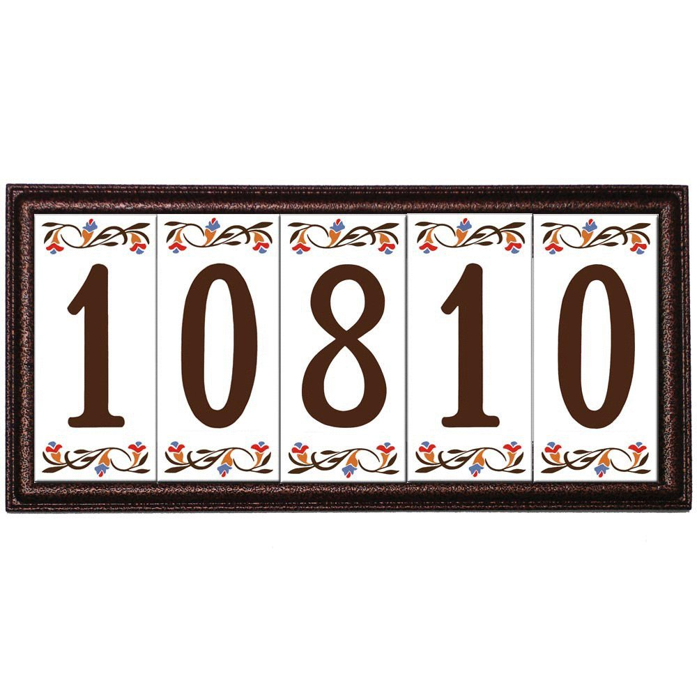 Amazon standard frame for 3x6 ceramic tile house address amazon standard frame for 3x6 ceramic tile house address number copper 5 numbers address plaques garden outdoor dailygadgetfo Choice Image
