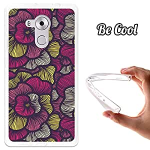 BeCool® - Funda Gel Flexible Huawei Mate 8 Arte Moderno Rosa Carcasa Case Silicona TPU Suave