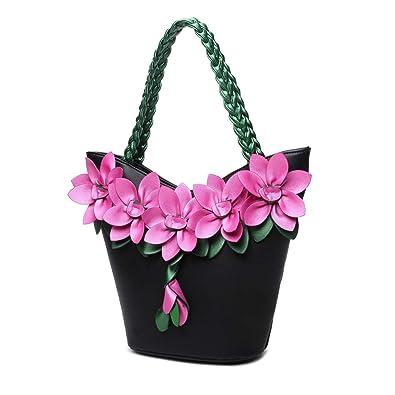 Amazon.com: HAOSHIDUO - Bolso de mano para mujer con asa ...