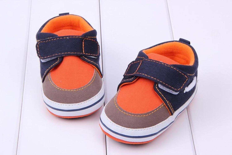 Bigood Baby AntiSlip Cotton Cloth Strip Shoes Walking Sneakers Orange  13cm Amazoncouk Clothing