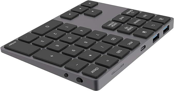Inalámbrica Bluetooth teclado numérico de carga es adecuada ...