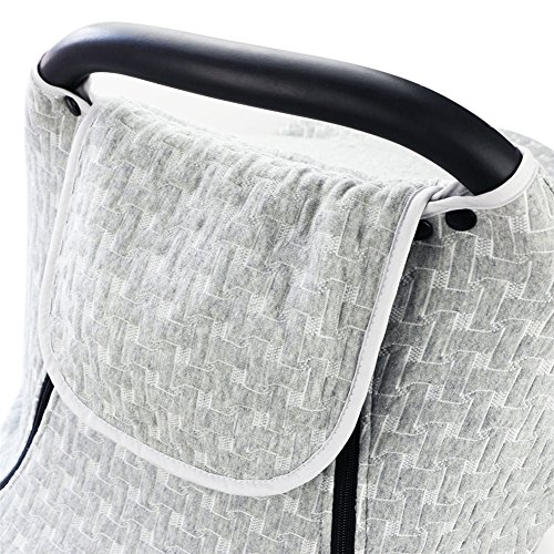 PROKTH Baby Stroller Gray Air Layer Mosquito Net, Sun Protection Sunshade Heat Insulation Cooling Polyester Cotton Cover Towel Sunshield by PROKTH (Image #6)