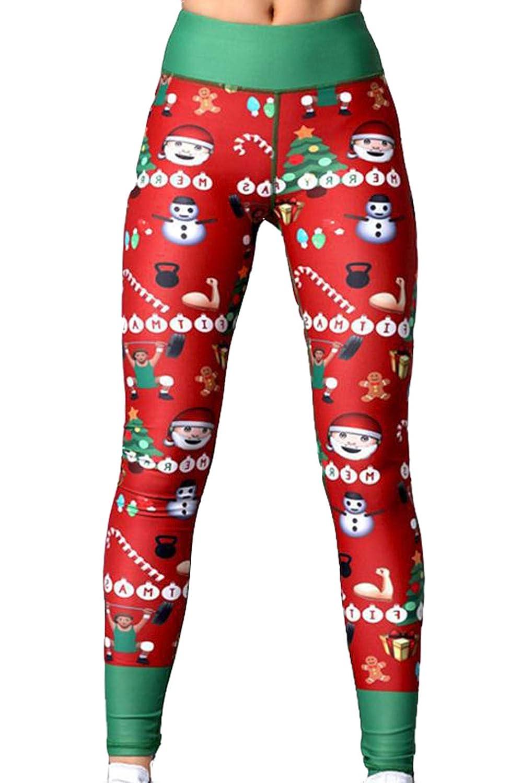 cxzas852 Ropa Estampada navideña para Mujer Pantalones Deportivos ...