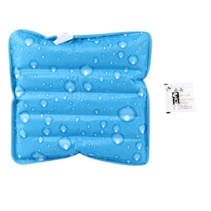 La almohada fresca, el cojín fresco, los paquetes de hielo ...