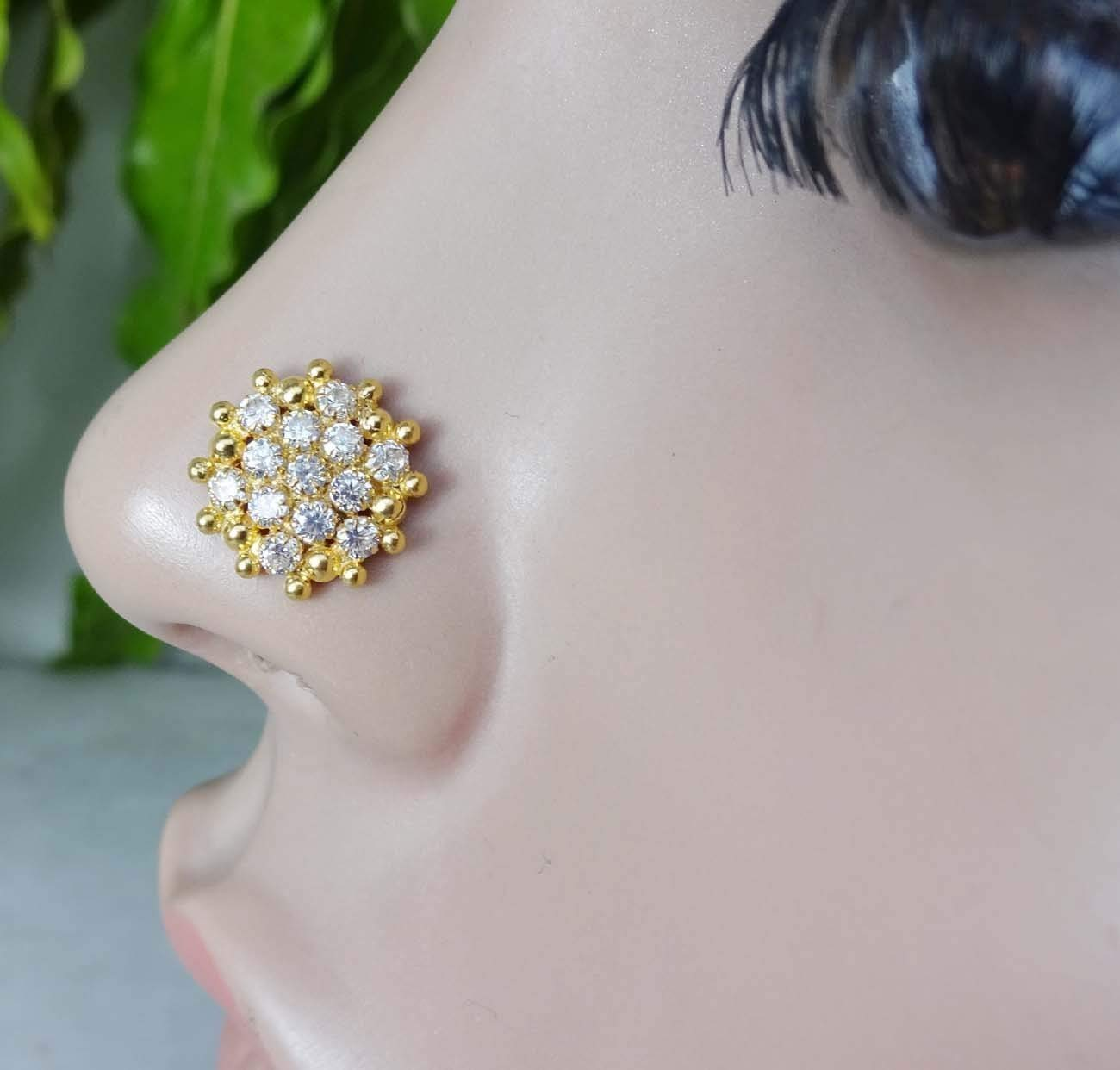 Amazon Com Indian Nose Stud Gift For Her Thanksgiving Nose Stud