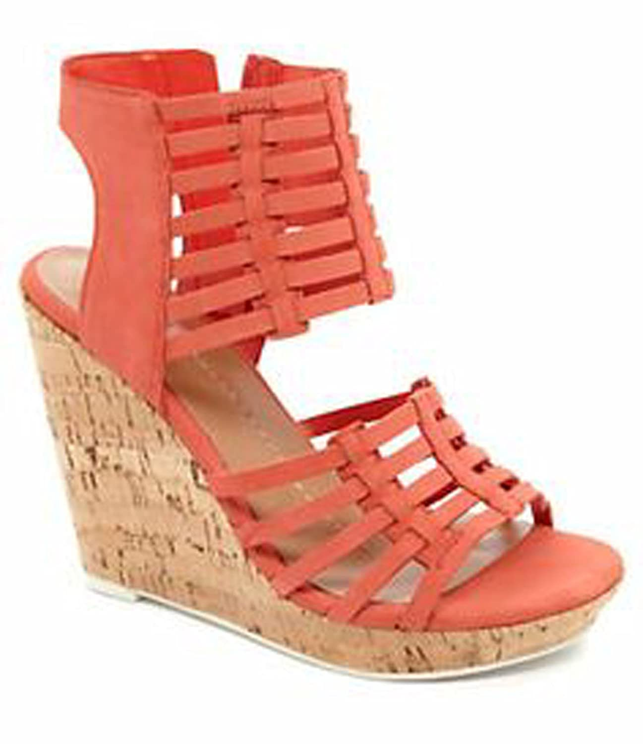 DV by Dolce Vita Women's Tila Wedge Sandal B00G5NPE84 9.5 B(M) US|Coral Leather