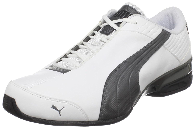 PUMA Men's Super Elevate Running Shoe B004J4XT2O 14 M US White/Pewter/Black