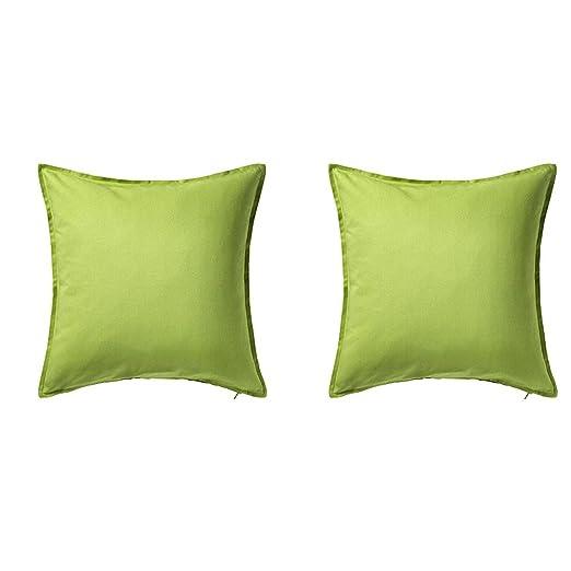 IKEA GURLI - Fundas de cojín, color verde, 20 x 20 - 2 ...