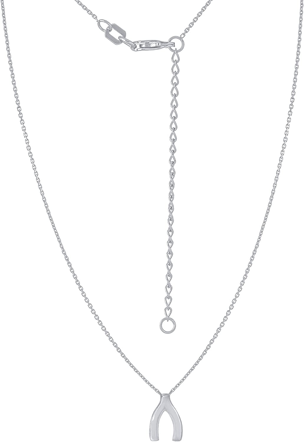 14Kt Gold Wishbone Necklace 18 Inches Wishbone Necklace