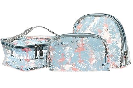 Bolsa de Aseo de PVC Transparente de 3 Piezas para líquidos en Equipaje de Mano y