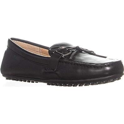 c77e1d790e3 Lauren Ralph Lauren Women s Briley Moccasin Loafer Black Super Soft Leather  5 B US B (