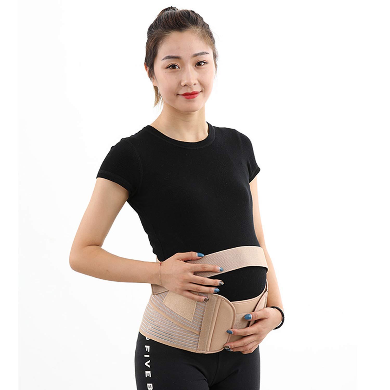 Cinturón De Estiramiento De Estómago De Mujer Embarazada Abdomen Prenatal Cinturón De Apoyo Abdominal Corrigiendo La Espalda Respirable Correa: Amazon.es: ...