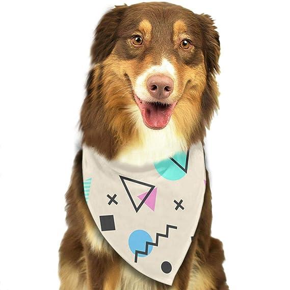 892ced730c26 Osmykqe Memphis Patrón de Formas geométricas Moda Suave y cómodo Perro  Gatos Bandana Colorido Diseñador Puppy Bibs Bufanda para la Cabeza   Amazon.es  ...