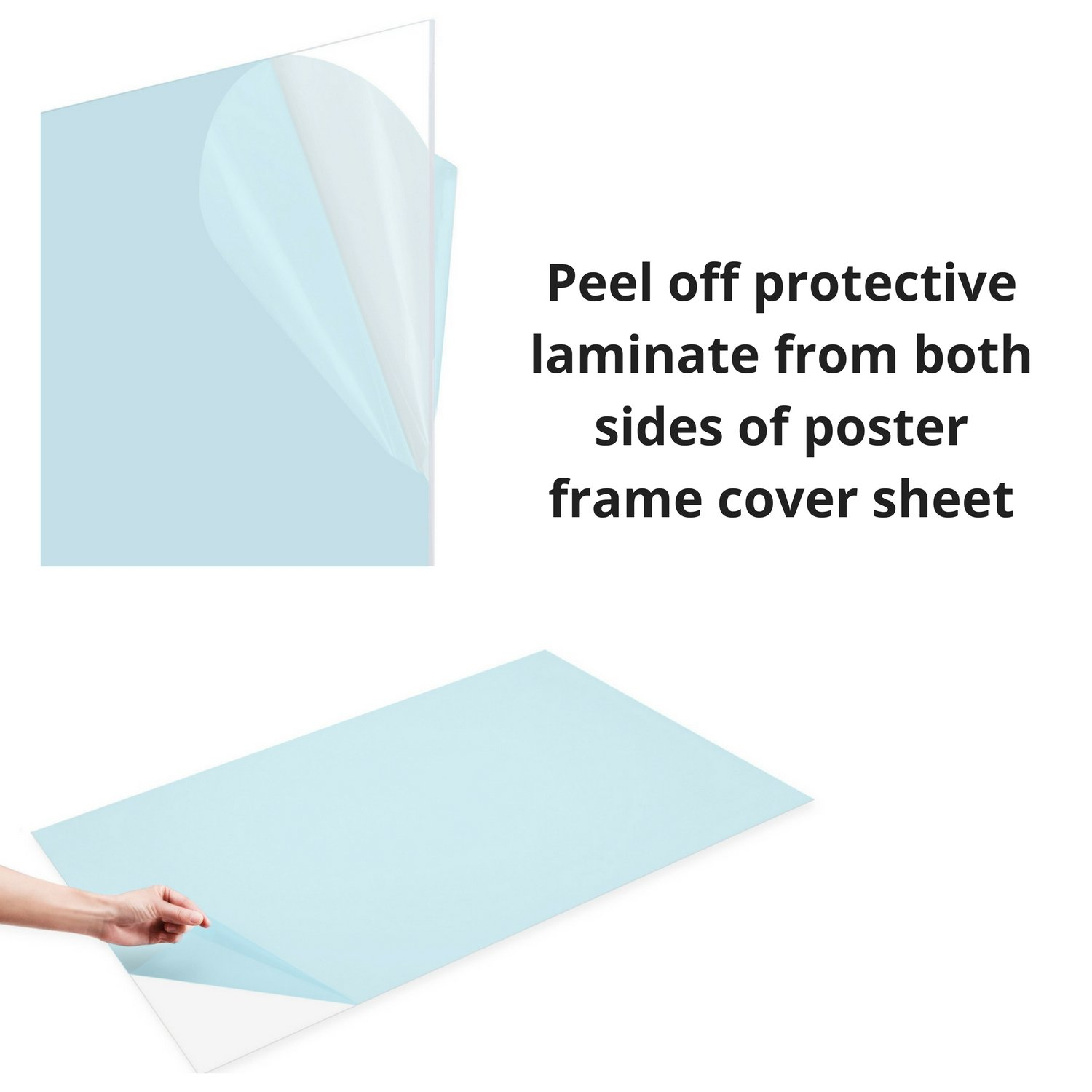 Amazon.com : FrameMaster Flexible Plastic Sheet (18x24 inch, 2 Pack ...