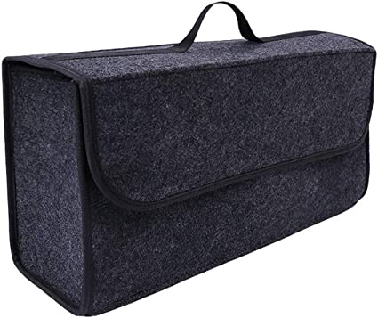 INTERINNOV/© Bolsa para maletero fabricada en fieltro con velcro 48 x 16 x 32 cm color gris