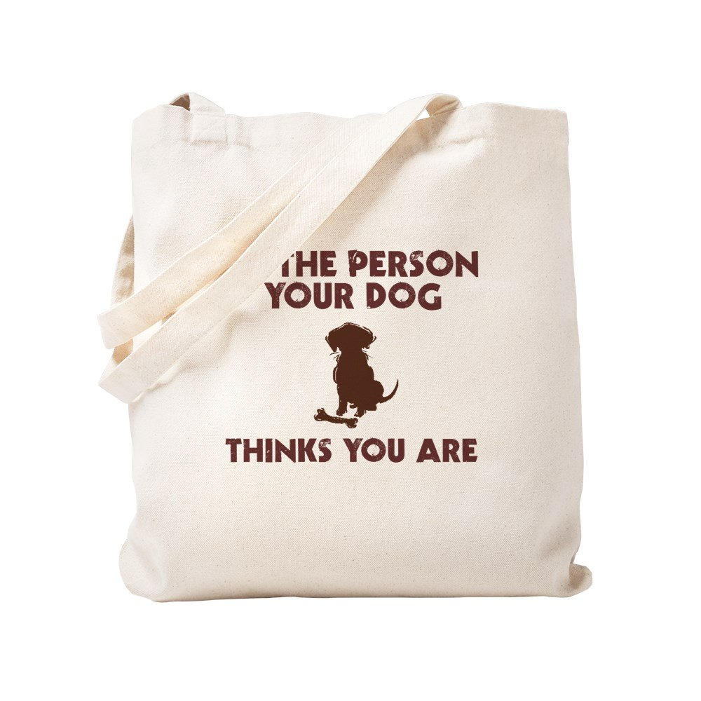b1ac399f4a3 CafePress Be Person Dog Thinks You Are Natural Canvas Tote Bag, Cloth  Shopping Bag