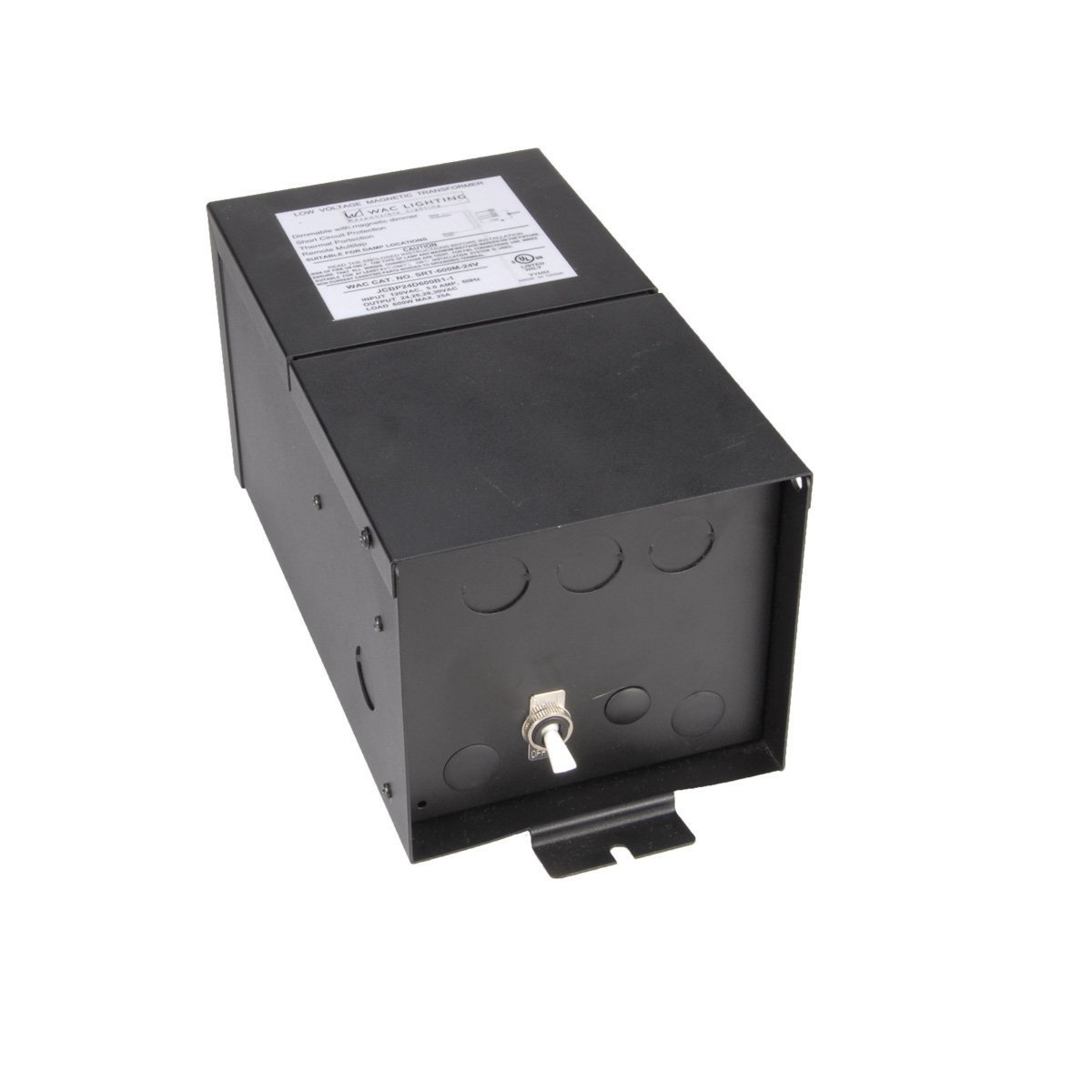 WAC Lighting SRT600M24V Remote Magnetic Transformer 600W, 600W Output 24V with Boost Tap by WAC Lighting