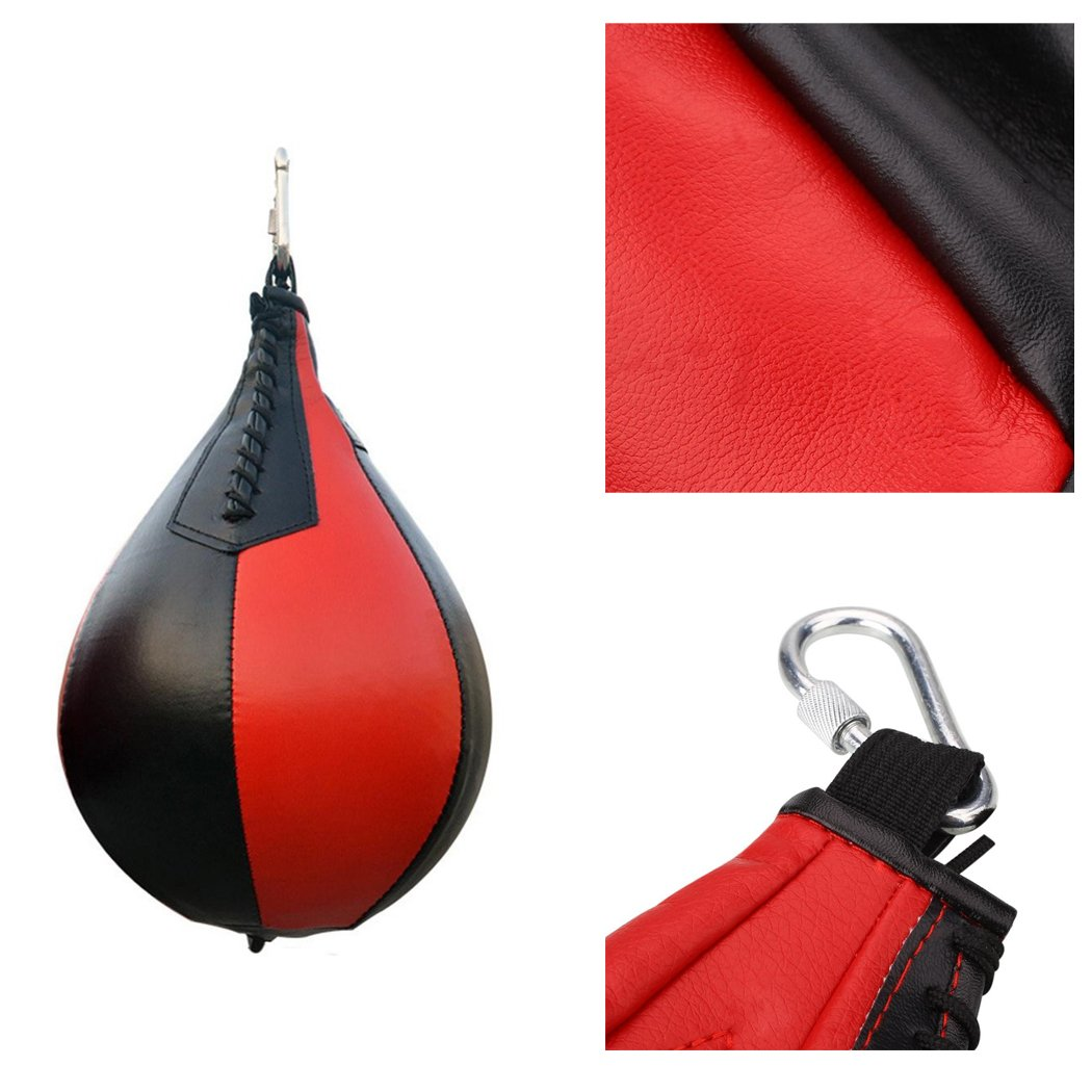 Bolsa de Golpear En Forma de Pera Bolsa de Velocidad de Perforaci/ón Giratoria para Entrenamiento de Entrenamiento F/ísico Fansport Bolsa de Velocidad del Boxeo