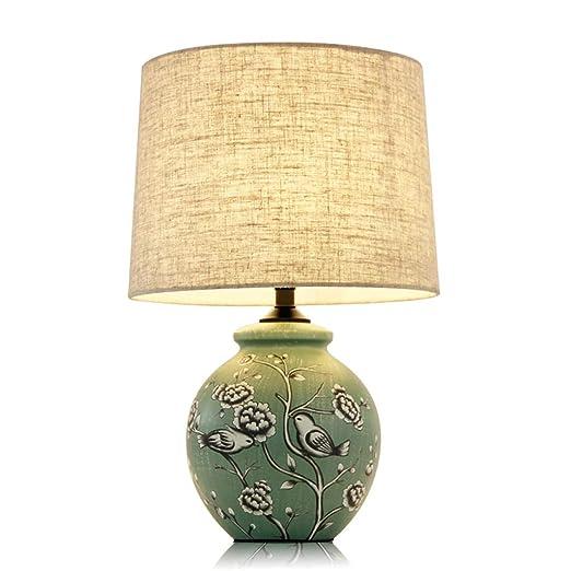 Lámpara de sobremesa de cerámica de estilo country americano ...