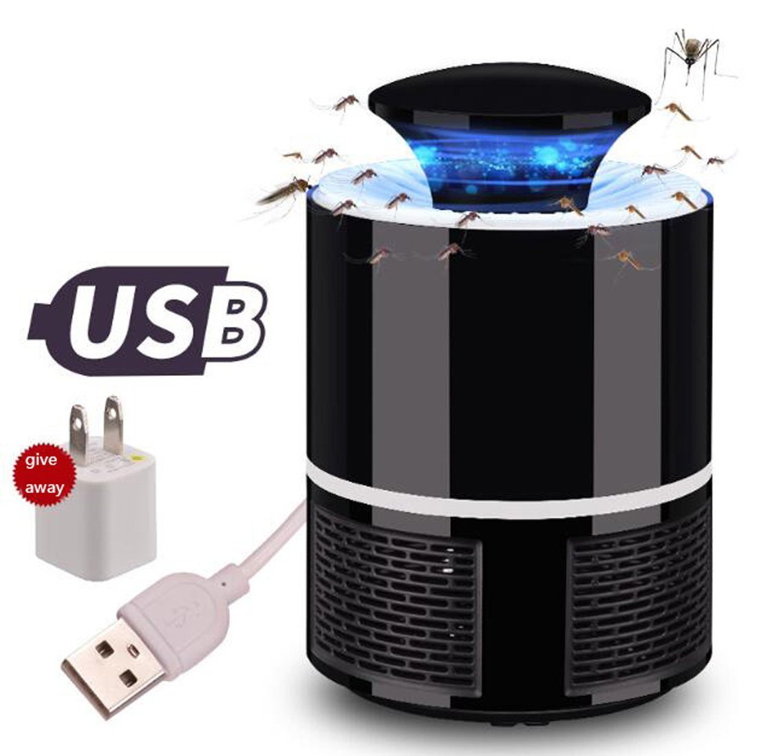 Elektronische Insektenvernichter, Insektenfalle, USB Powered Home Fliegenschutzmittel Insektenschutzmittel LED Insekt Töten Lampe Insektenvernichter Lichter Keine Strahlung Indoor & Outdoor Home Hinte