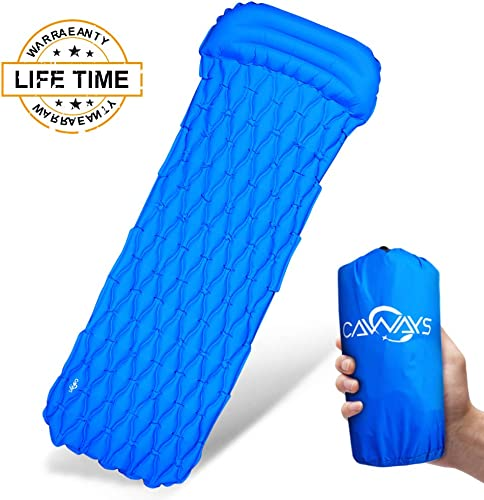 Caways Ultralight Camping Sleeping Pad Mats Mattress for Backpacking Travel Outdoor with Pillow
